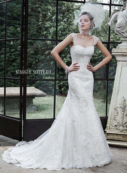 Maggie Sottero - Winstyn <br></noscript> Ivory/Light Gold-16 3