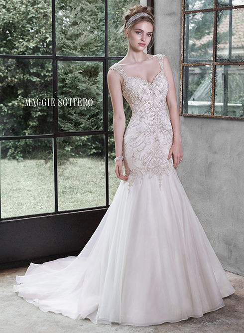Maggie Sottero - Winstyn <br></noscript> Ivory/Light Gold-16 3