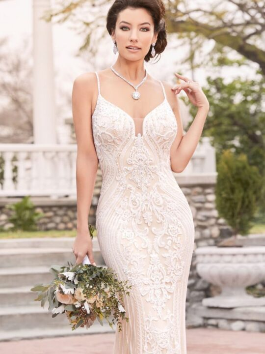 Kitty Chen Couture - Sophia  Ivory/Nude-6